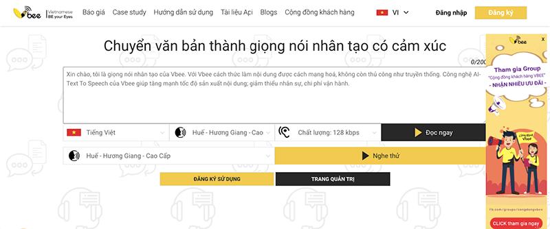 vbee chuyển văn bản thành giọng nói